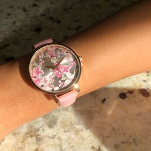 Accessories - Voulez Vous Pink leather & rose gold watch